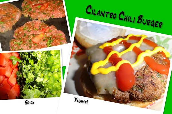 Cilantro Chili Burger Recipe