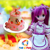 Strawberry Shortcake Doll Cake