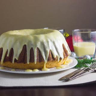 Rum and Eggnog Pound Cake.