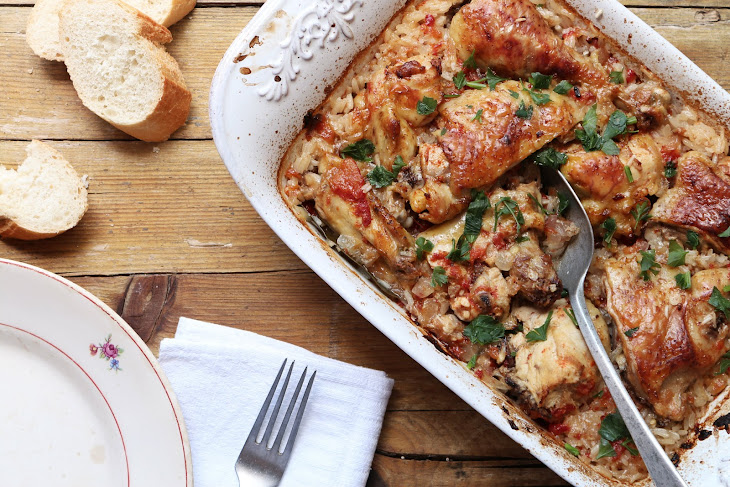 Roasted Free Range Chicken with Rice Recipe