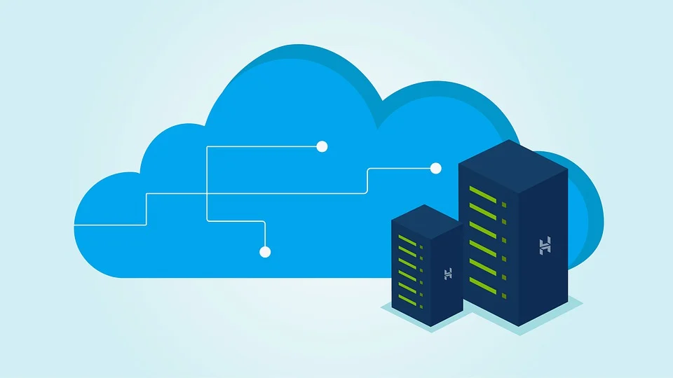 A graphic representing cloud data storage for data warehousing services