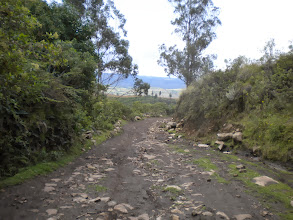 """Photo: OK, this """"road""""... with sharp rocks and loose mud.. it was a but much!"""