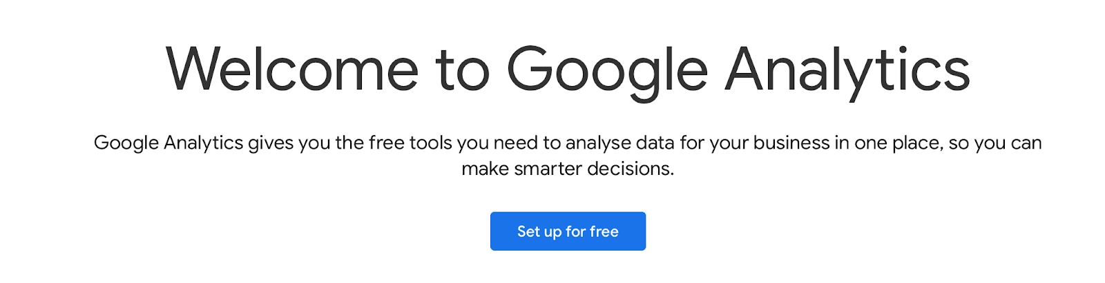 google analytics welcome notification