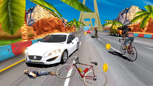 In Bicycle Racing on Highway - Bike Rider Game for PC