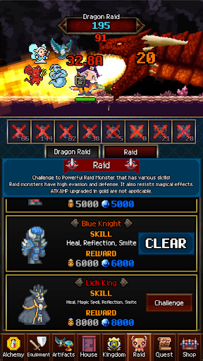 Dungeon & Alchemist - Idle Pixel RPG : Dragon Raid 1.4.16 screenshots 8