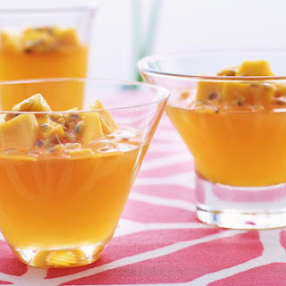 Passion Fruit Jelly with Mango.