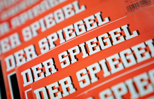 19Several issues of the news magazine 'Der Spiegel' lie on top of each other on one table. Picture: GETTY IMAGES/ DPA/ KAY NIETFELD