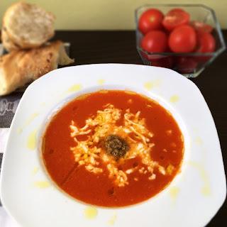Tomato Soup with Mozzarella Recipe