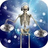 DJ Music for dancing skeleton