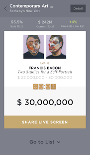 Live Auction Art- screenshot thumbnail