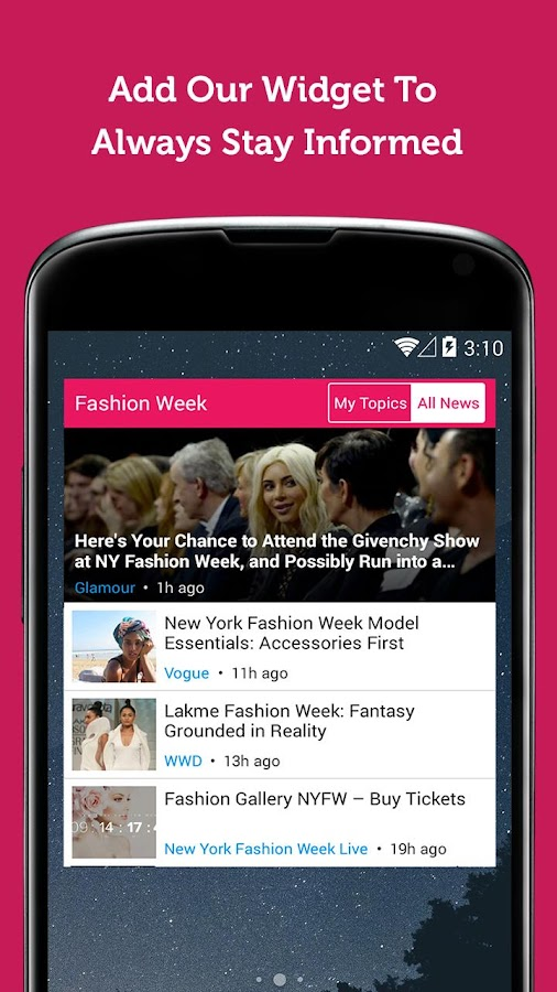 Fashion Week News & Videos- screenshot