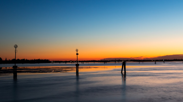 Il tramonto della laguna di Venezia di albericofiore