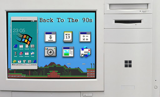 Windroid Theme for windows 95 PC Computer Launcher  screenshots 8
