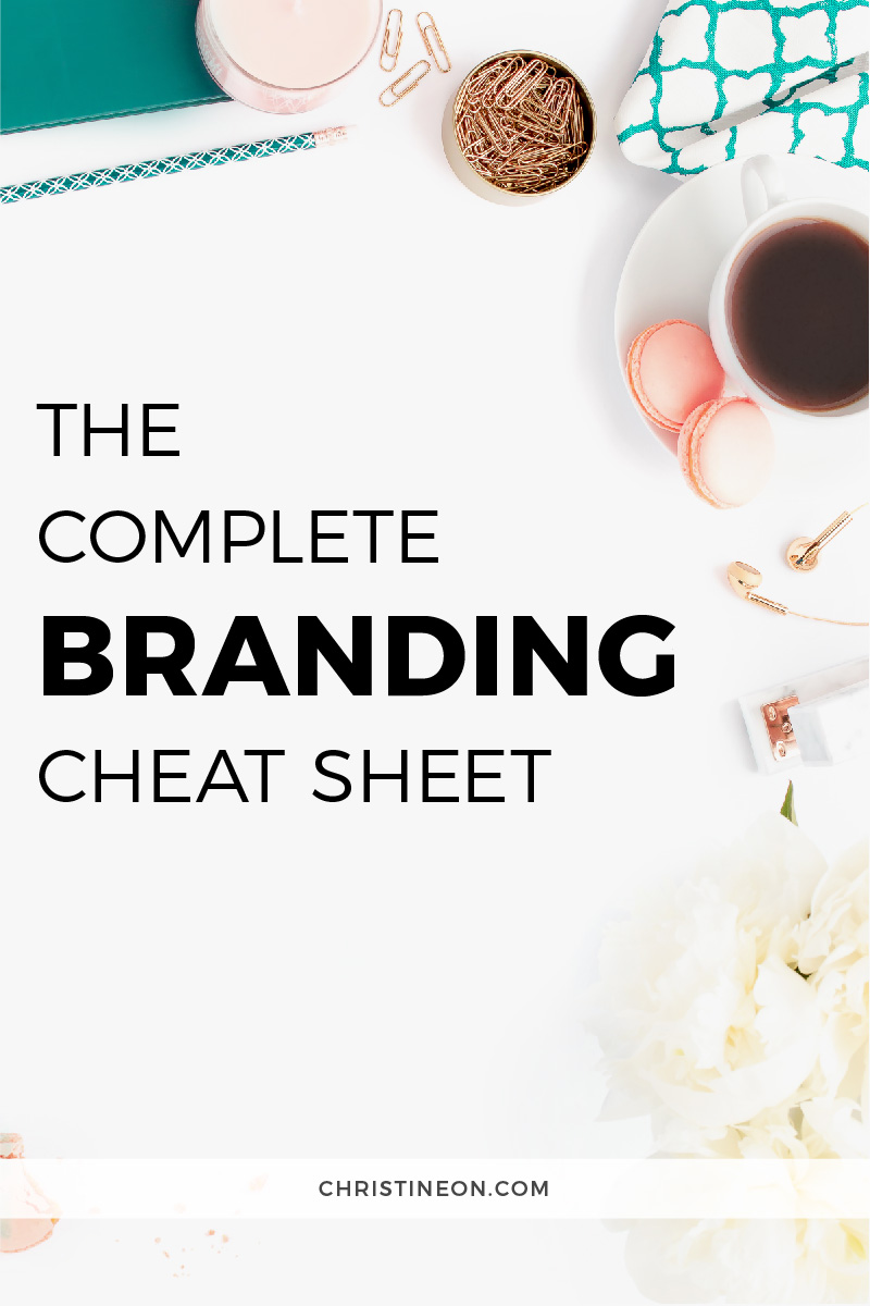 Branding Cheat Sheet - Christine On