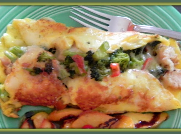 Saute your peppers & broccoli in a pan for 5 - 7 minutes with...