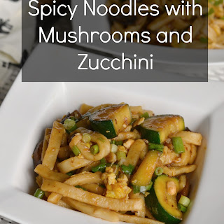 Spicy Noodles with Mushrooms and Zucchini Recipe