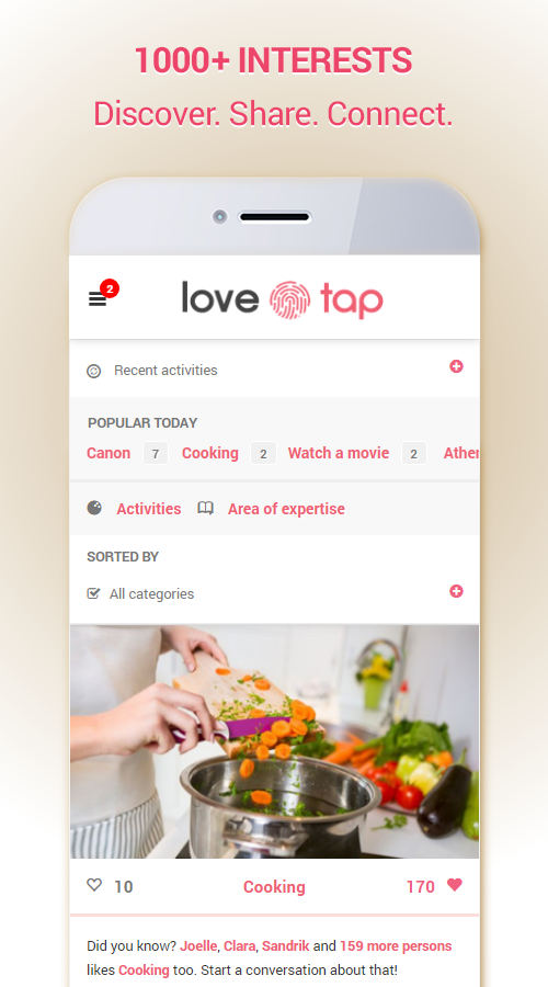 LoveTap - Friendship, Flirt and Chat around you- screenshot