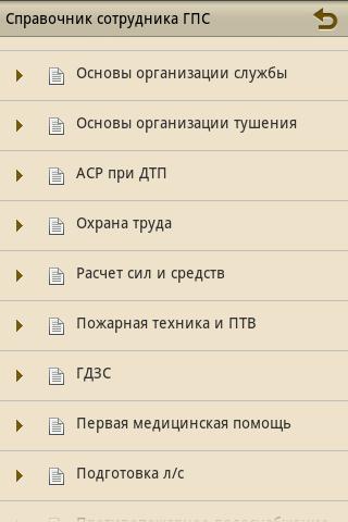 Справочник сотрудника ГПС