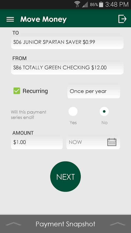 MSUFCU Mobile - screenshot