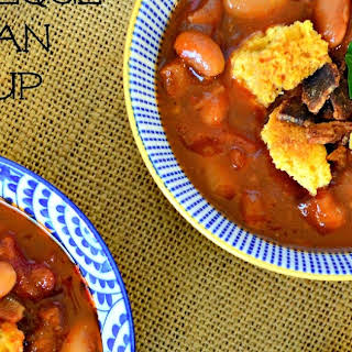 Barbeque Bean Soup with Sausage.