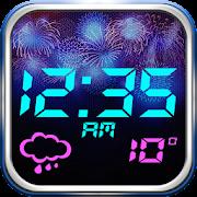 Fireworks Weather Clock Widget