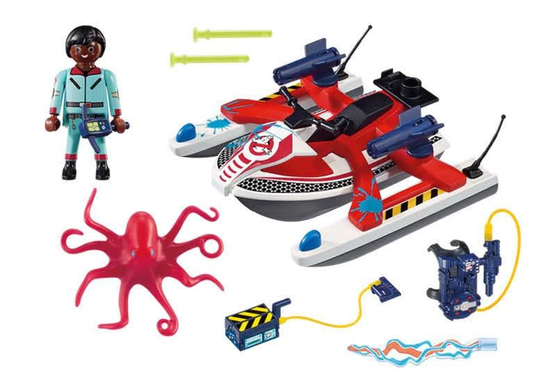 Contenido real de Playmobil® 9387 Zedemore con Moto de Agua