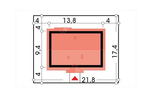 Gienia energo+ wersja C bez garażu strop Teriva - Sytuacja