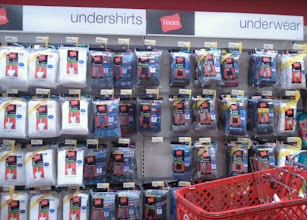 Photo: We made it to the underwear section.