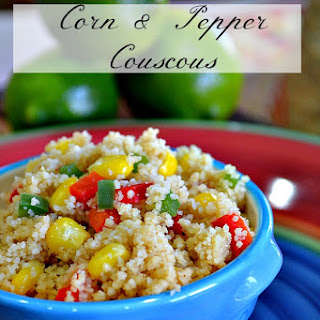 Corn and Pepper Couscous.