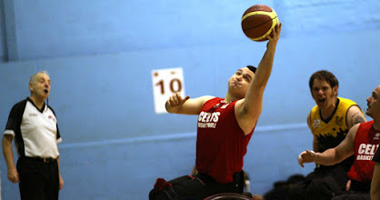 Photo: Photo taken during match between CELTS 2 and SWBC Tigers at Talybont Sports Centre, Cardiff Uni on Sunday 15 February 2015