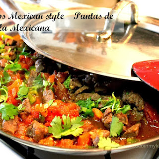 Beef Tips Mexican Style / Puntas de Filete a la Mexicana