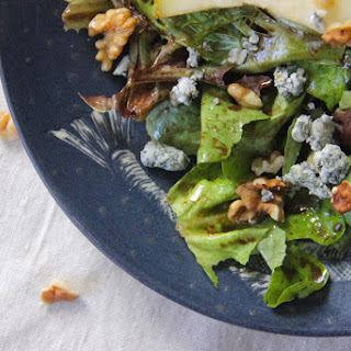 Pear, Walnut and Blue Cheese Salad.