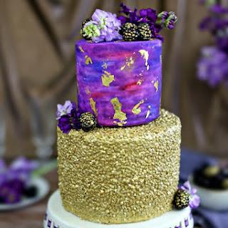 Gold Sequin Watercolor Cake Recipe