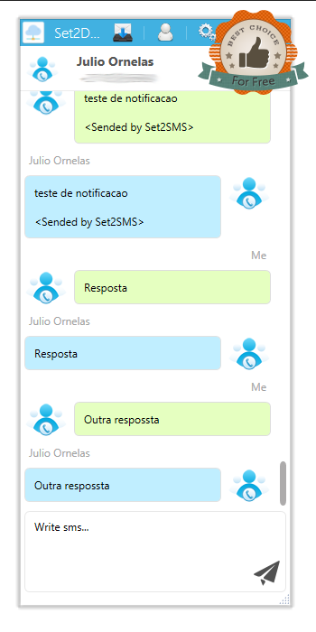 Set2SMS - SMS Gateway– captura de ecrã
