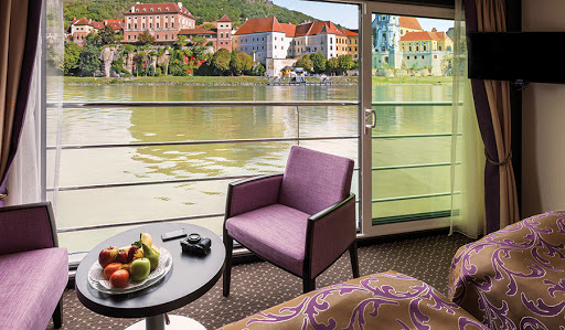 Avalon-Poetry-II-panorama-suite-window - Most staterooms on Avalon Poetry II feature French balconies (floor-to-ceiling windows).