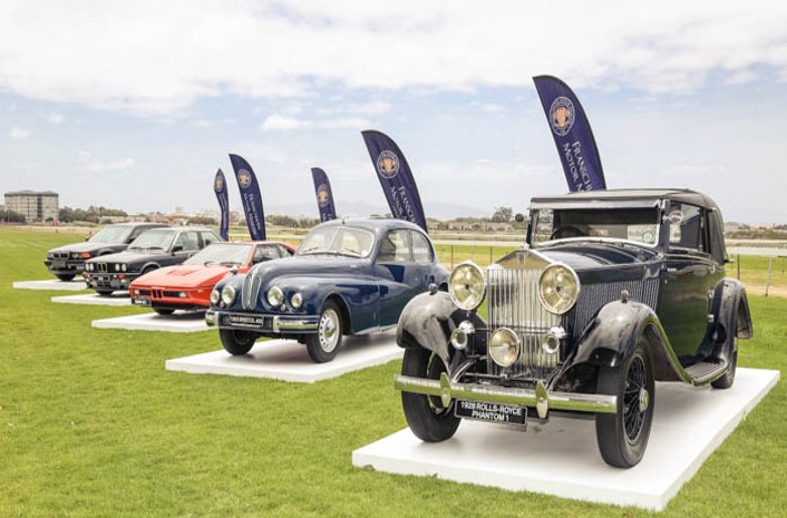 A collection of the BMW Group's vintage cars at the L'Ormarins Queen's Plate.