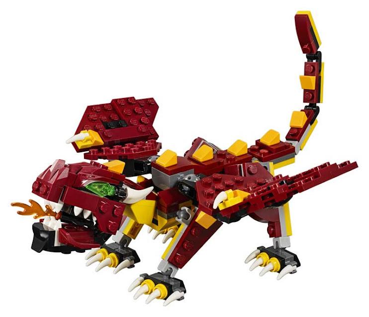 Contenido de Lego® 31073 Criaturas Míticas