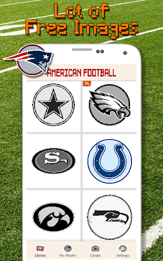 American Football Logo Color By Number - Pixel Art 4.0 screenshots 2