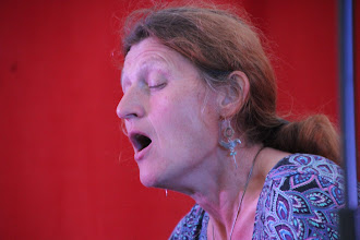 Photo: Jane singing like a songbird, not scaring them!