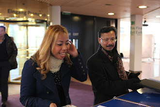 Photo: Arrival of our guests from Malaysia - Nurul Ashiqin Hj Shamsuri and Abdul Jalil Maraicar