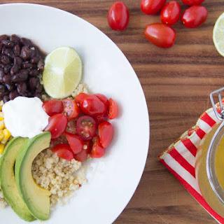 Quinoa Burrito Bowls with Chili Lime Vinaigrette
