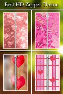Pink Love Zipper Lock screenshot