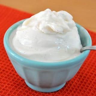 Homemade Frozen Greek Yogurt.