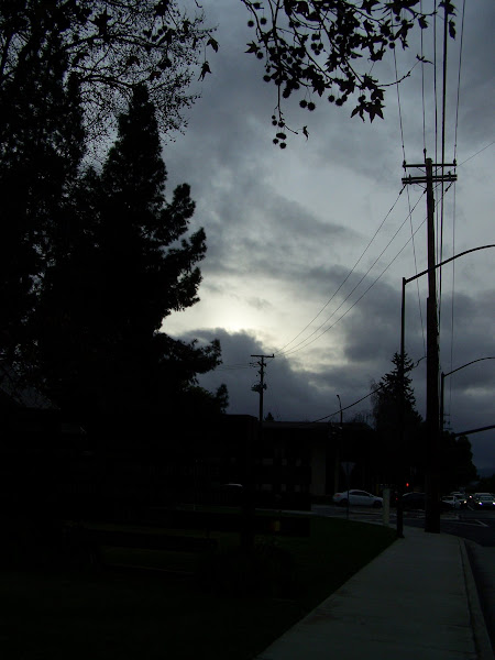 Photo: Almost sunset in overcast skies