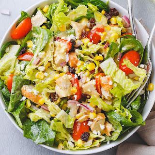 Spinach Corn + Feta Chicken Salad.