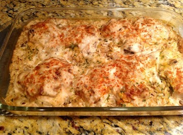 Easy Chicken & Rice Bake Recipe