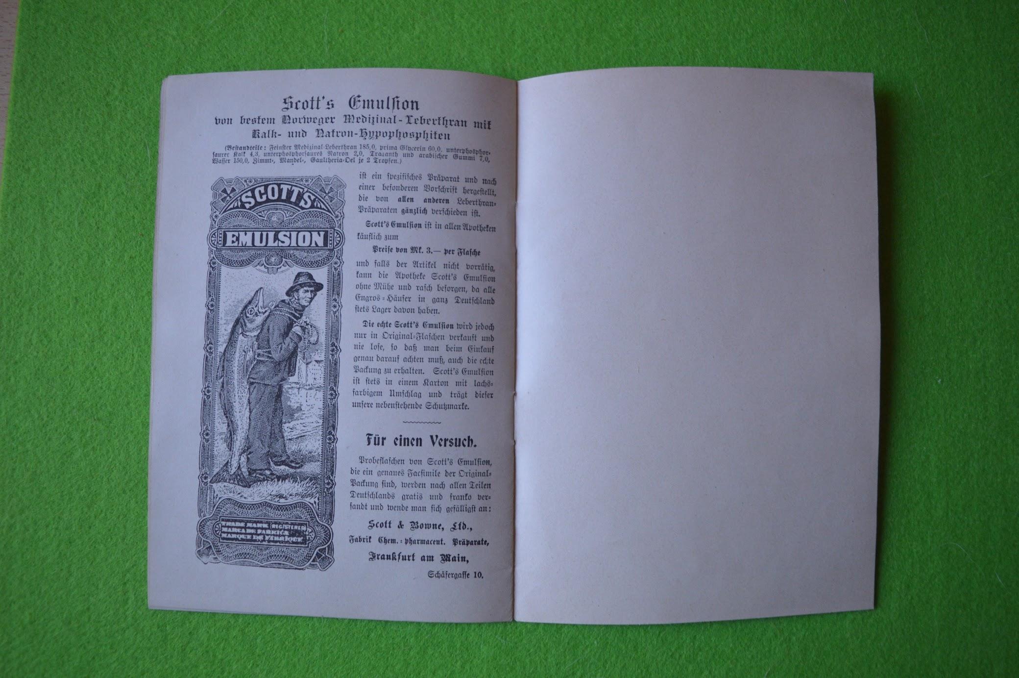 Scott's Emulsion, Prospekt, 1901