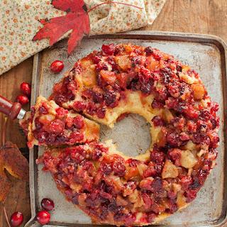 Easy Cranberry Apple Cake.