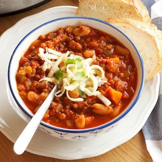 Crock Pot Vegetarian Chili (Slow Cooker).