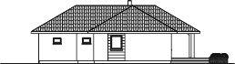 Domek Sosnowy 008 ET - Elewacja tylna